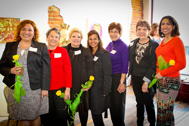 Photo from the Women's celebration at Mattie Rhodes.  Photo by Michael Alvarado - Dos Mundos
